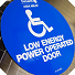 This image of a motorized door opener is a link that leads to the Accessible KU website.